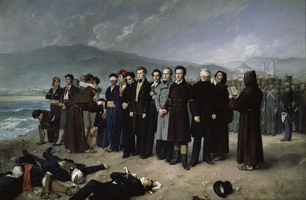 Antonio Gisbert Pérez, L'exécution de Torrijos